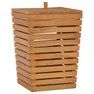 Coș de rufe, 30 x 30 x 45 cm, lemn masiv de tec