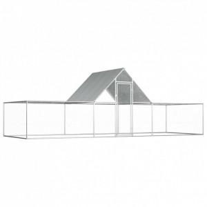 Coteț pentru păsări, 6 x 2 x 2 m, oțel galvanizat