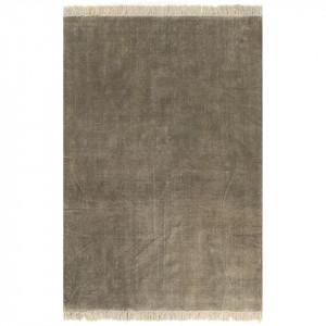 Covor Kilim, gri taupe, 160 x 230 cm, bumbac