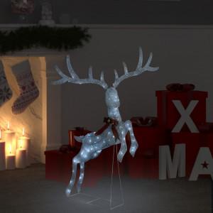 Decorațiune ren zburător de Crăciun 120 LED alb rece argintiu