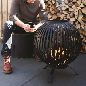 Esschert Design Bol pentru foc, negru, benzi oțel carbon FF400
