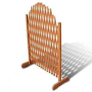 Gard cu zăbrele, 180 x 100 cm, lemn masiv