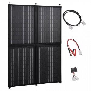 Încărcător panou solar pliabil 100 W 12 V
