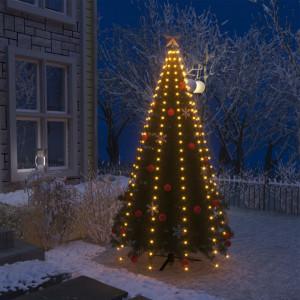Instalație pom de Crăciun tip plasă cu 250 LED-uri IP44 250 cm