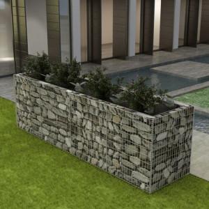 Jardinieră gabion, oțel, 360 x 90 x 100 cm