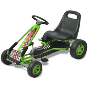 Kart cu pedale cu șezut reglabil verde