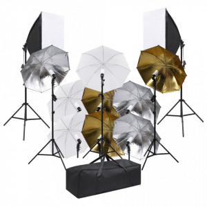 Kit de studio foto cu set de lumini și softbox-uri