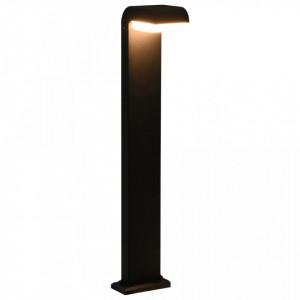 Lampă LED pentru exterior, negru, 9 W, oval