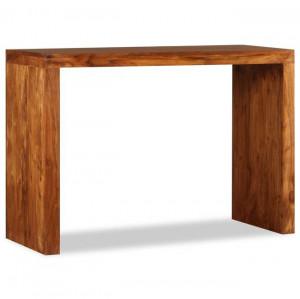 Masă consolă, lemn masiv cu finisaj de sheesham, 110x40x76 cm
