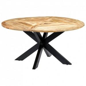 Masă de bucătărie, 150x76 cm, lemn masiv de mango, rotund