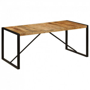 Masă de bucătărie, 180 x 90 x 75 cm, lemn masiv de mango
