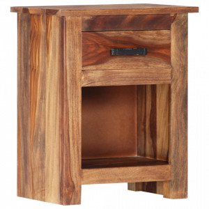 Noptieră, 40x30x50 cm, lemn masiv de sheesham