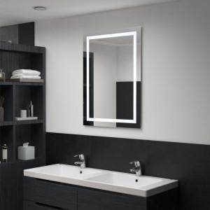 Oglindă cu LED de baie cu senzor tactil, 60 x 80 cm