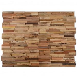 Panouri placare pereți, 10 buc., 1,03 m², lemn de tec reciclat