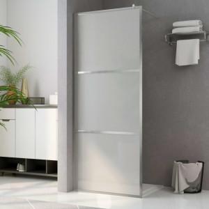Paravan de duș walk-in, 140 x 195 cm, sticlă ESG mată integral