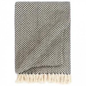 Pătură decorativă, antracit, 125 x 150 cm, bumbac