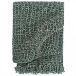 Pătură decorativă, verde închis, 125 x 150 cm, bumbac