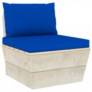 Perne pentru canapea din paleți, 2 buc., albastru, textil