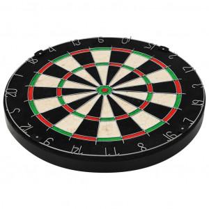 Placă de darts profesională din sisal, cu 6 săgeți și bordură
