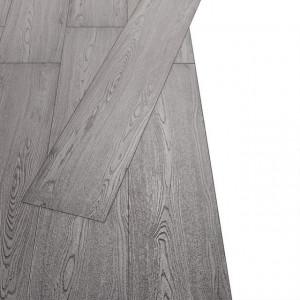 Plăci de pardoseală, gri închis, 5,26 m², 2 mm, PVC