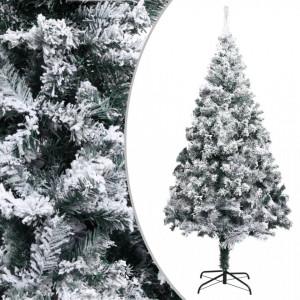 Pom de Crăciun artificial cu zăpadă, verde, 210 cm, PVC