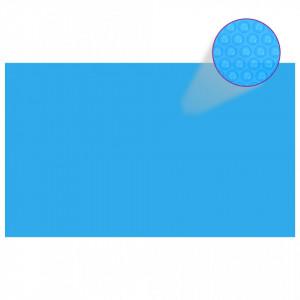 Prelată de piscină, albastru, dreptunghiular, 500 x 300 cm, PE
