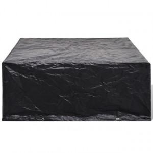 Prelată mobilier exterior din poliratan cu 10 inele 260 x 260 x 90 cm
