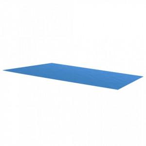 Prelată piscină, albastru, 1000 x 600 cm, PE, dreptunghiular
