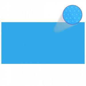 Prelată piscină, albastru, 1200 x 600 cm, PE, dreptunghiular