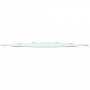 Rafturi de colț cu suporturi crom 2 buc. alb 45x45 cm sticlă