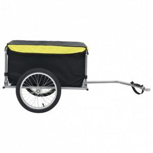 Remorcă de bicicletă, negru și galben, 65 kg