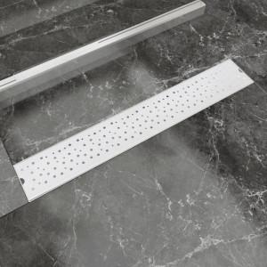 Rigolă duș liniară, model bule, oțel inoxidabil, 730 x 140 mm