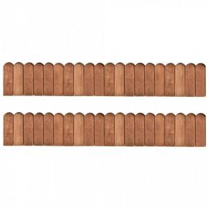 Role de bordură, 2 buc., 120 cm, lemn de pin tratat