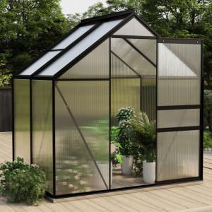 Seră, antracit, 2,47 m² aluminiu