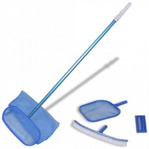 Set de curățare a piscinei 1 perie 2 skimmere 1 tub telescopic