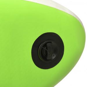 Set de placă SUP gonflabilă, verde, 366x76x15 cm