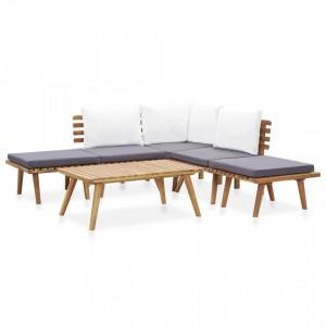 Set mobilier de grădină, 6 piese, lemn masiv de acacia