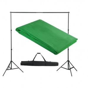 Sistem de suport fundal, 300 x 300 cm, verde
