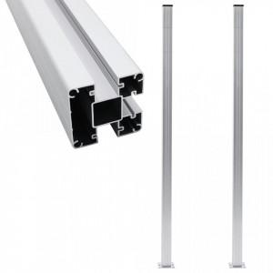 Stâlpi de gard, 2 buc., 185 cm, aluminiu