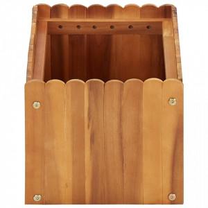 Strat înălțat de grădină, 50 x 30 x 25 cm, lemn masiv de acacia