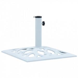 Suport de umbrelă, alb, 12 kg, fontă, 49 cm