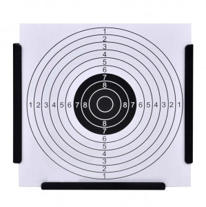 Suport pentru tir + 100 ținte de hârtie 14 cm