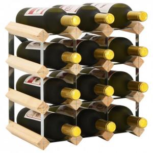 Suport sticle de vin pentru 12 sticle, lemn masiv de pin