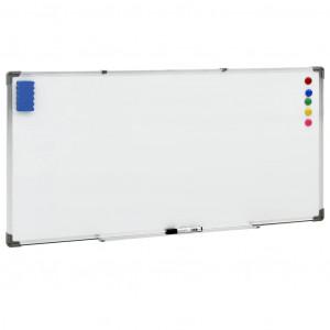 Tablă magnetică albă, 110x60 cm, oțel