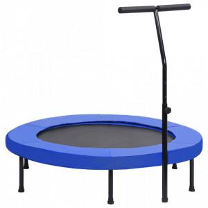 Trambulină de fitness cu mâner și margine de siguranță, 122 cm