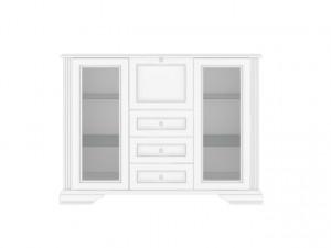 White 009-2 Bufet 2W3S1B Snowy Ash/Silver Pine