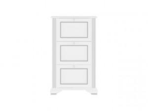WHITE 019 shoe cabinet 3D snowy ash-tree/silver pine
