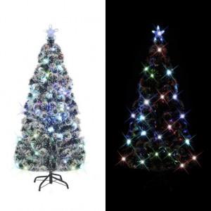 Brad artificial de Crăciun cu suport / LED 150 cm 170 ramuri