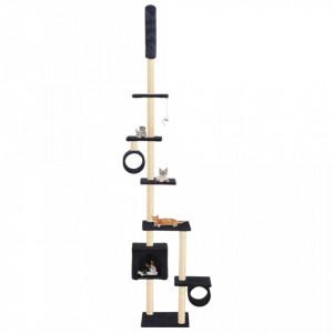 Ansamblu pisici, stâlpi funie sisal 260 cm, Bleumarin