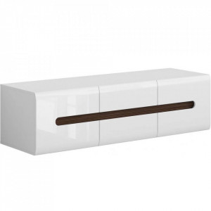 Azteca 001 TV Stand 2D2S / 4/15 alb / alb gloss high
